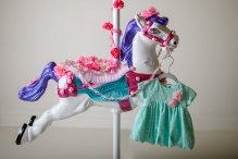 Pauline's Photography, mint lacey dress with carousel horse